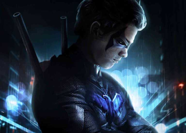 First Look Kostum Nightwing di Serial Titans