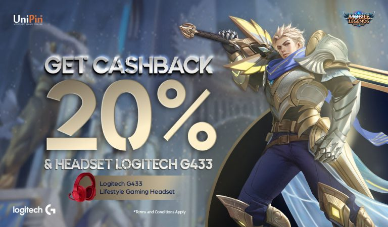 Top Up Mobile Legends di UniPin Dapetin Double Bonus Cashback dan Headset Logitech